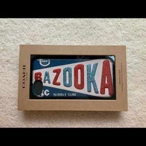 COACH BAZOOKA GUM IPHONE 7/8 HARD GLITTER CASE